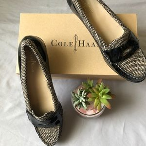 Cole Haan Air Sloan Moccasins 8.5AA Black Tweed